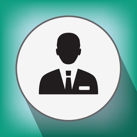 traje formal: Pictograma del hombre de negocios Vectores