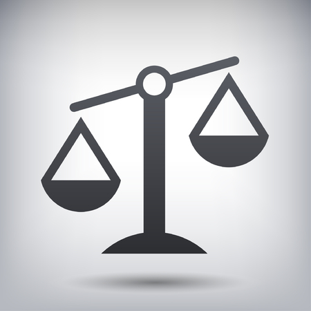 balance icon: Pictograph of justice scales