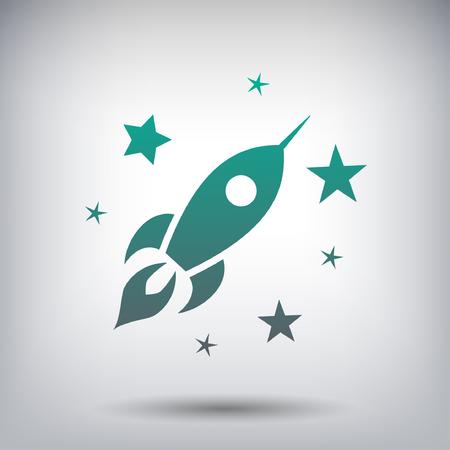 rocket: Rocket icon Illustration