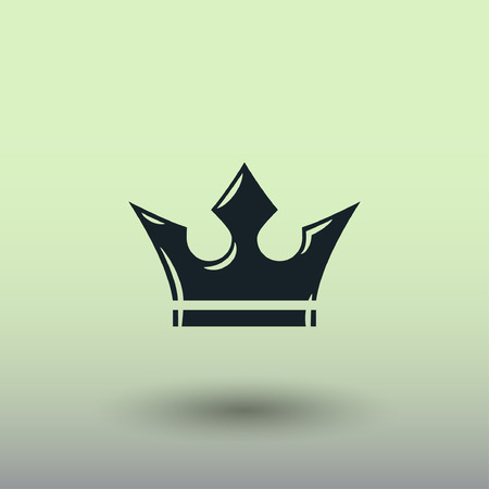the aristocracy: Pictograph of crown. Vector concept illustration for design. Eps 10 Illustration