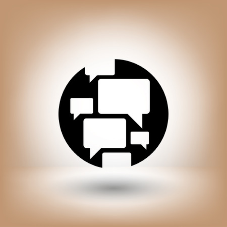 communicate  isolated: Pictograph of chat. Vector concept illustration for design.