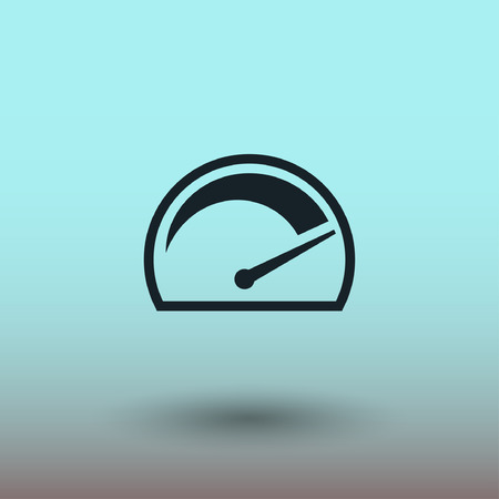 kilometer: Pictograph of speedometer. Vector concept illustration for design. Illustration