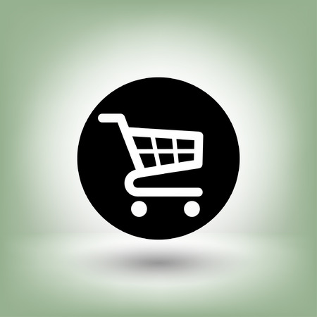 e market: Pictograph of shopping cart. Vector concept illustration for design. Eps 10