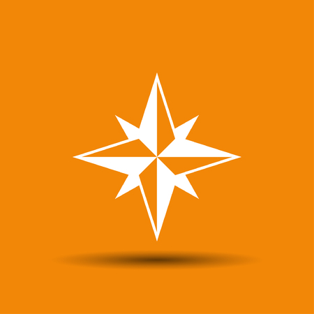 compass rose: Pictograph of compass. Vector concept illustration for design. Eps 10