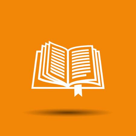 Beeldschriftteken van het boek. Vector concept illustratie voor het ontwerp. eps 10