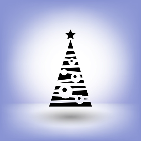 christmas tree illustration: Pictograph of christmas tree. Vector concept illustration for design.