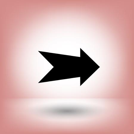arrowheads: Arrow icon. Vector concept illustration for design. Eps 10