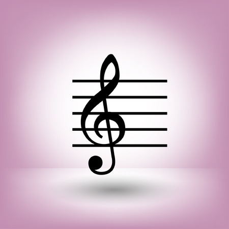 10 key: Pictograph of music key. Vector concept illustration for design. Eps 10