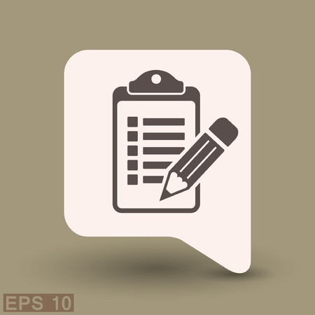 checklist: Pictograph of checklist. Vector concept illustration for design. Eps 10