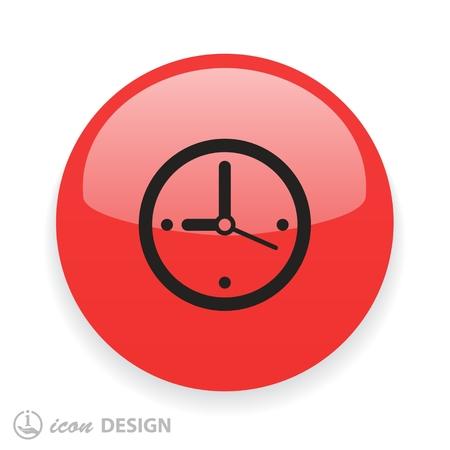 Pictogramme d'horloge. Illustration de concept de vecteur pour la conception. Eps 10 Vecteurs