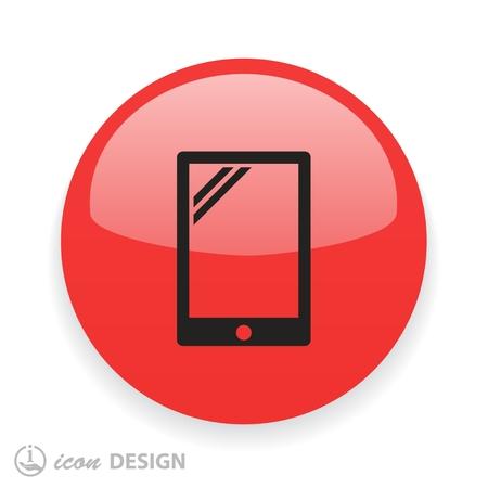 tablet vector: Pictograph of tablet. Vector concept illustration for design. Eps 10 Illustration