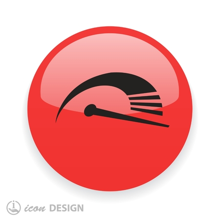 fast car: Pictograph of speedometer. Vector concept illustration for design. Eps 10
