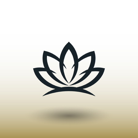 lotus flowers: Pictograph of lotus. Vector concept illustration for design. Eps 10 Illustration