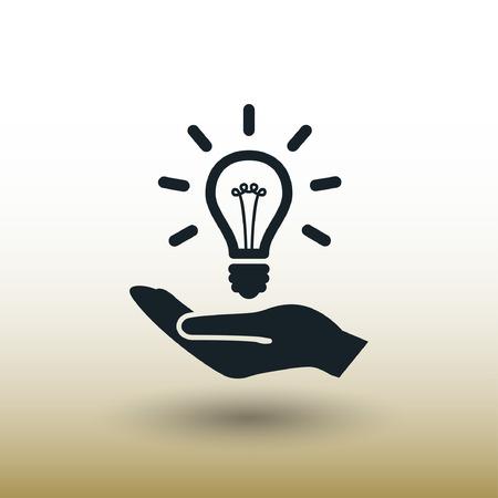 電球の絵文字。デザインのベクトルの概念図。Eps 10  イラスト・ベクター素材