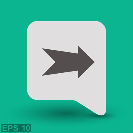 arrow icon: Arrow icon. Illustration