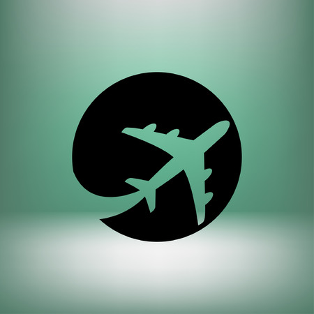 pictograph: Pictograph of airplane.