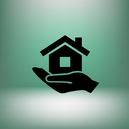 home icon: Pictograph of home.