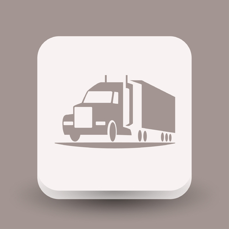 Pictograph of truck. Vector concept illustration for design. Eps 10 Illustration