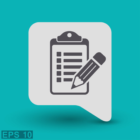 checklist: Pictograph of checklist. Illustration