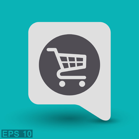 e retailers: Pictograph of shopping cart.