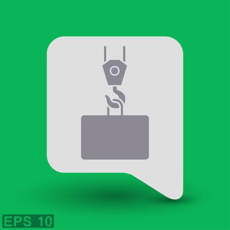 hoist: Pictograph of crane hook. Vector concept illustration for design. Eps 10
