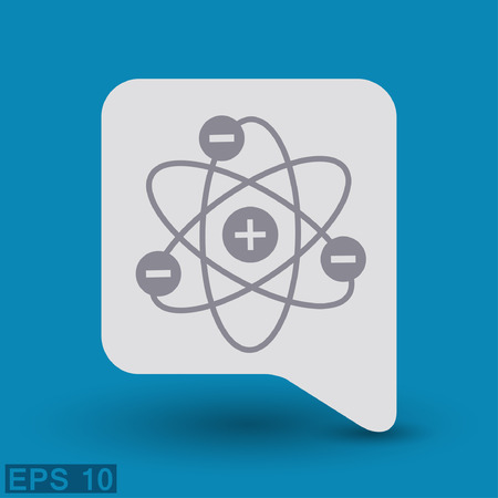 physical chemistry: Pictograph of atom.