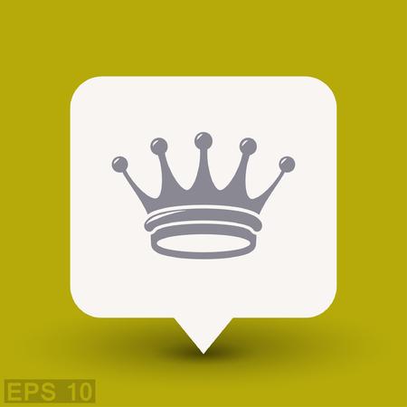 corona de rey: Pictograma de la corona. Vector ilustraci�n del concepto para el dise�o. eps 10