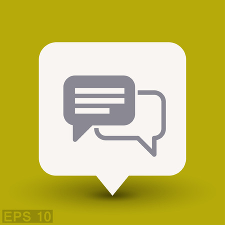 communicate  isolated: Pictograph of message or chat. Vector concept illustration for design. Eps 10 Illustration
