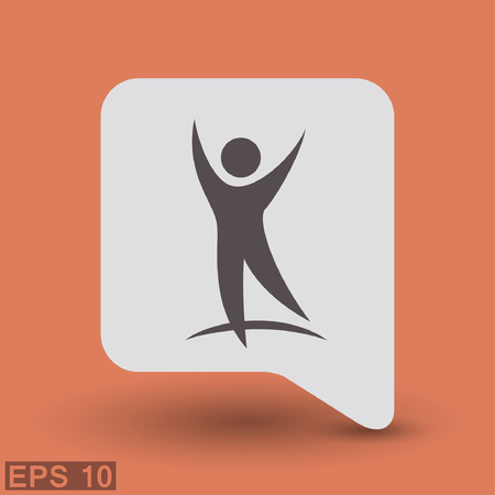 success concept: Pictograph of success people. Vector concept illustration for design.