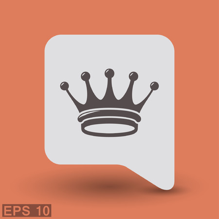 aristocracy: Pictograph of crown. Vector concept illustration for design.