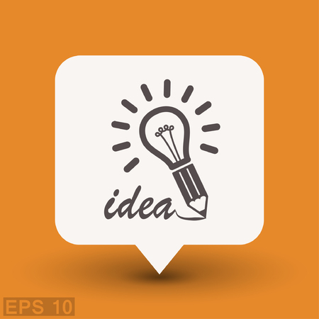 light bulb low: Pictograph of light bulb. Vector concept illustration for design. Eps 10