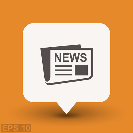 publishes: News icon. Vector concept illustration for design. Eps 10
