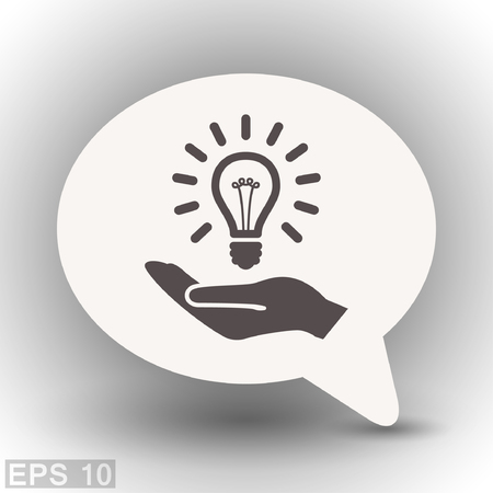 light bulb low: Pictograph of light bulb. Vector concept illustration for design.