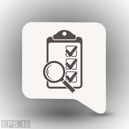 Pictograma de la lista de verificación. Concepto de ilustración vectorial para el diseño. Eps 10