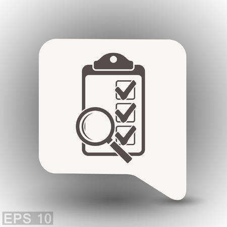 Pittogramma di lista di controllo. Illustrazione vettoriale concetto per il design. Eps 10
