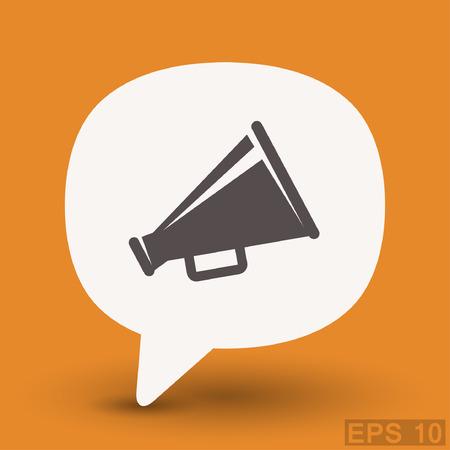 proclaim: Pictograph of megaphone. Vector concept illustration for design. Eps 10