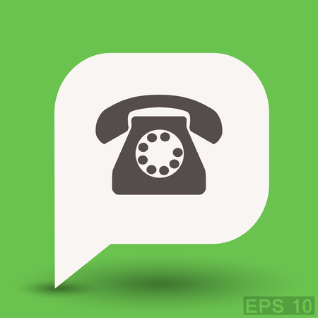 phone: Pictograph of phone.