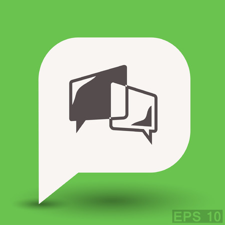 communicate  isolated: Pictograph of message or chat.