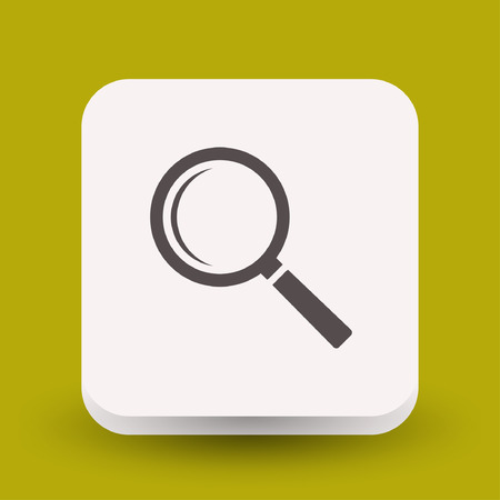 pictograph: Pictograph of search. Vector concept illustration for design. Eps 10