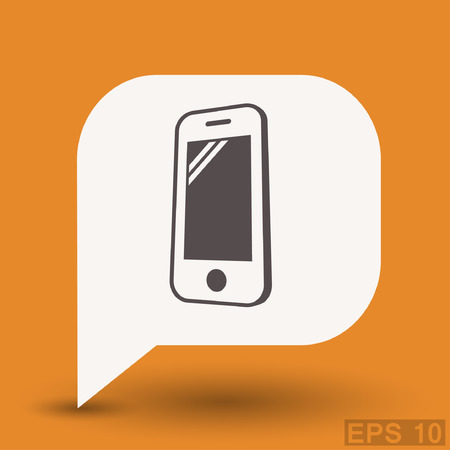 phone: Pictograph of mobile phone.