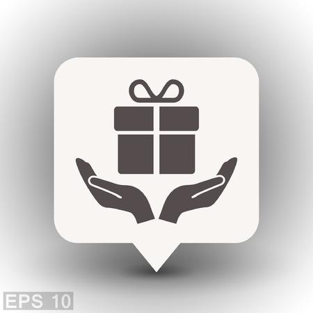 Pictogramme de cadeau. Vector illustration du concept pour la conception. EPS 10