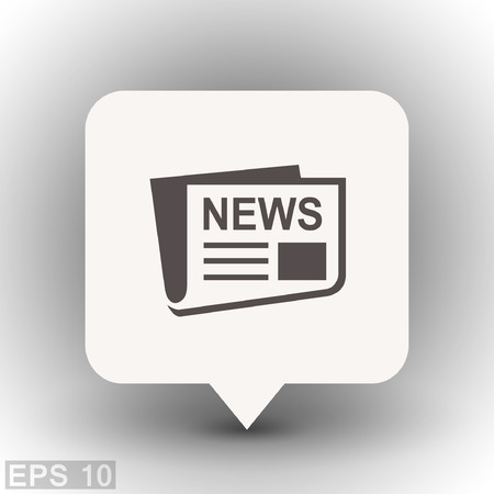 reportage: News icon. Vector concept illustration for design. Eps 10