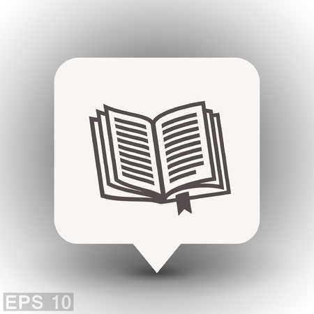 publishes: Pictograph of book. Vector concept illustration for design. Eps 10