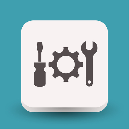 gearwheel: Pictograph of gear. Vector concept illustration for design. Eps 10