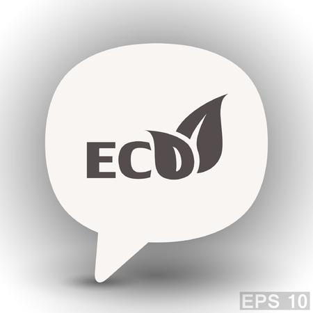 eps 10: Pictograph of eco. Vector concept illustration for design. Eps 10 Illustration
