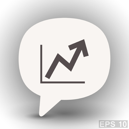 eps 10: Pictograph of graph. Vector concept illustration for design. Eps 10