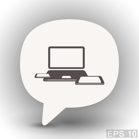 eps 10: Pictograph of computer. Vector concept illustration for design. Eps 10