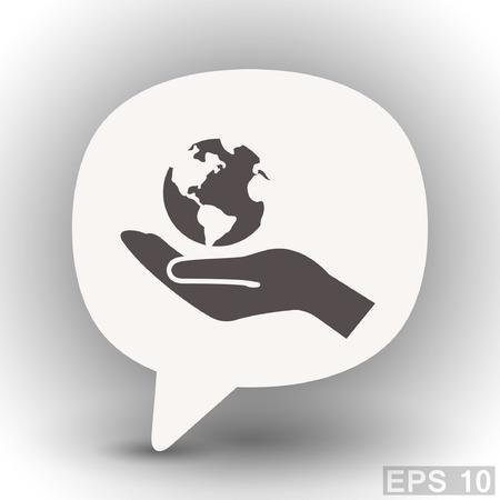 eps 10: Pictograph of globe. Vector concept illustration for design. Eps 10