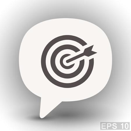 eps 10: Pictograph of target. Vector concept illustration for design. Eps 10