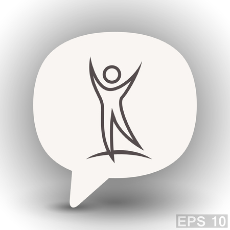 eps 10: Pictograph of success people. Vector concept illustration for design. Eps 10
